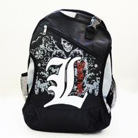 New Arrival Japan anime animation death note L pattern cartoon cool boy school backpack message bag laptop bag