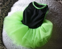Fashion Fluorescent/Shiny Green Fluffy dog skirt pet coat Puppy dress Pet apparel Total 12 Layer of Lace