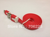 2M Colorful Flat V9 Micro 5pin USB Charge Cable for Smart mobile phones  in Bulk Packing
