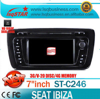 LSQ Star SEAT IBIZA Car Radio DVD GPS Navigation 1G CPU 1080P 3G Host HD Screen S100 DVR Audio Video Player