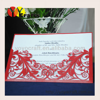 hot sell laser cut paper in various color and size customlizable paper laser cutting invitation card