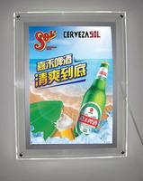 Led acrylic display box a3,wall mounted acrylic crystals lighbox advertising led frame