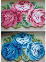 "Free shipping home decoration carpet 3  rose mats bedroom & bedside mat anti-slip mat "" beautiful rose rug""80*60cm"