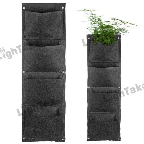 Decorativa Casa Jardinagem 4 -Pocket Poliéster Verde Vertical Garden Wall Planter de parede Hanging Vasos Planter(China (Mainland))
