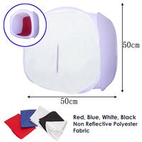 Background free Shipping Photo Studio Soft Box Shooting Cube Tent Softbox /50 X 50cm Light +portable Bag+ 4 Backdrops 30200143