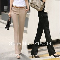 Free Shipping 2013 Spring And Autumn Ol Woman Pants Slim Straight Pants Fashion Business Pants with Belt Plus Size XXS-XXXL