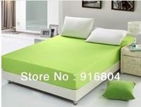Free Shipping !!! Hot Sale Cheap Solid Color Wrap Around Elastic Queen Size Mattress Cover