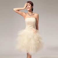 Bra Pearl of the wedding new spring and summer small dress skirt sister bridesmaid dress evening dress LF114