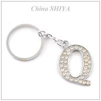 Long Lasting Style Crystal Initial Alphabet Letter Q Key Chain(12pcs/lot)Rhinestone A-Z Car Keychain Charm Key Chain Gift