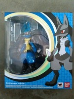 Pokemon high quality  lucario toys new Original Ver  Bandai SH Figuarts  pokemon figures japan product PVC Action Figure; model