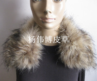 Women's strap buckle fox fur raccoon fur collar down jacket false top overcoat collar  Free shipping