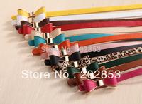 Lady's Slender Waist Belt Han Phnom Penh Bowknot Slender Waist Belt Female New PU Belt Women Fashion Thin Belts For Women