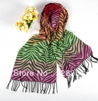 Personalized zebra scarves cashmere scarves acrylic thick winter scarves