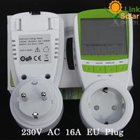 Free shipping 230V High Quality EU Plug  LCD Digital Energy Meter Power Meter,Wattmeter ,Voltage meter,amper meter monitor
