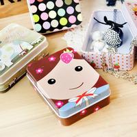 Free shipping Mini tin box  jewelry storage box Multifunctional Tin Storage case 5pcs/lot D203
