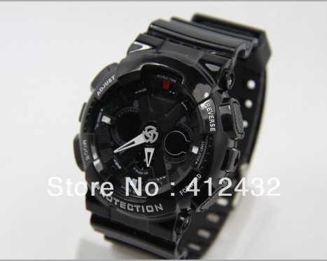 FREE SHIPPING 2013 top brand wristwaches (3 colors)   NEW G GA120 1A (3D DIAL)DUAL TIME WATCH  dive led  watchS005