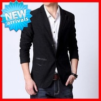 2013  New  Arrival  Men 's  3   Colors  Fashionable Casual Suit , Men's  Two button  Single breasted   Blazer  G1610