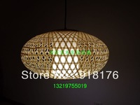 Vintage bamboo lamp cover bamboo lantern lighting living room pendant light bamboo self-shade lamp cover handmade crafts