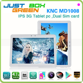 "10.1"" KNC Phone tablet pc android 4.1 double sim card double cameras dual core mtk9377 with gps wifi 3g skype android maket"