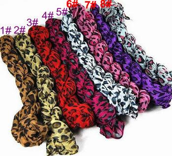 imixbox Leopard Grain Scarf Assorted Color Wholesale Free shipping 8 designs W4112