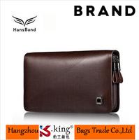 B.King Famous Brand Genuine Leather Men Wallets Luxury , High Quality Double Zipper Men Clutch Handbag , MHB002