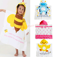 Lovely Baby Kid Girl Boy Cartoon Beach Bath Towel Bathrobe Clothes WashclothFree Shipping wholesale/retail