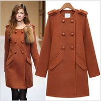 FREE SHIPPING hot hot sell!!! 2013 Women's Fashion Double Breasted Cotton Trench Outerwear Slim Thickening Coat.n-80