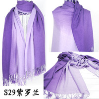 2015 Brand New Women's Fashion Long large Soft Shawl Stole Cashmere Scarf Gradient scarf wraps W4193