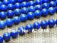 Free shipping natural lapis lazuli 10mm smooth round european charm bracelet blue gem beads