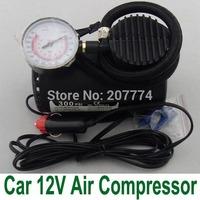 Mini 12V Car Auto Electric Pump Air Compressor Portable Tire Inflator pumps Tool 300PSI Free Shipping