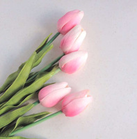20pcs 30cm Real Touch Artificial Tulip Fake PU Tulips Flower for Wedding Bridal Bouquet Centerpieces Party Decorative Flowers