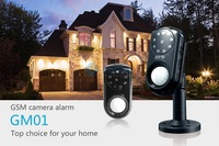 GSM Security MMS Alarm System with Camera PIR Motion Detection MMS SMS Function Night Vision 850/900/1800/1900mhz SC-101