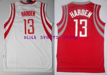 Fast Free Shipping Retail& Wholesales Embroidery logo houston #13 james harden jersey retro Basketball jerseys