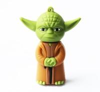 New retail cartoon star wars yoda  -1 model usb 2.0 memory stick flash drive pen drive disk free shipping 4-32GB