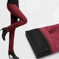 Free Shipping New 2013 Autumn And Winter Women'S Elastic Plus Velvet Pants Skinny Legging Pants Thickening Pencil Pants LW90108