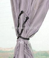"Free Shipping Gunmetal Magic Curtain Tieback Bendy Snake Jewelry Accessories Diameter 8mm Length 50cm(19"")"