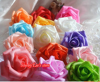Fantastic!!! Totally 18 Colors For Selection!!! 700pcs X  (6cm) Foam Rose Heads DIY Crafts  Wedding Flowers .* FREE SHIPPING *