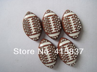 20pcs American football Slide Charm 8mm slide accessory diy dogs and cats necklace charm free shipping