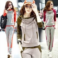 2014 New HOT  women's Casual Women Spring Autumn Sports Suit female Fashion High Quality Sweatshirt Pants Set,Cheap wholesale
