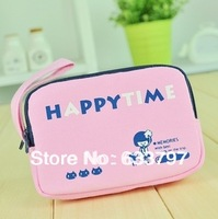 Purse, zero purse, canvas double zipper happy Bella, 2690