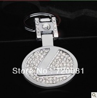 New Lexus Car emblem  with Diamond keychain chain ring Free Shipping