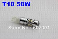 Freeshipping 4pcs/lot  50W T10 super brightness T10/T15/H1/H3/880/881/ 50W CREE car led light,w5w led high power,T10 LED