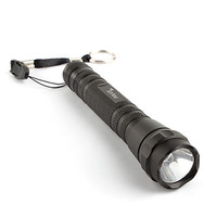 FX 114 Police 5W Aluminum Zoom In LED Flashlight Torch Light 2XAA Black  Free Shipping