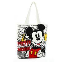 free shipping 2013 wholesale fashion canvas handbag mickey mouse / women handbag and shoulder bag/drop shipping