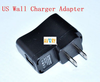 AVERY Style USB AC Power Supply Wall Adapter Adaptor MP3 Charger US Plug MP3 MP4 Black free shipping china post