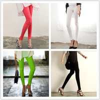 High-elastic cotton ultra high waist pants slim trousers 4