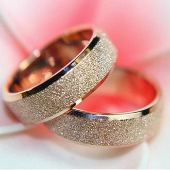 18K Роуз Позолоченные обручальное кольцо для мужчин и женщин обручальные кольца перста ювелирных аксессуаров Размер # 5 # 6 # 7 # 8 # 9 # 10 35591