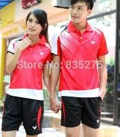 Badminton suits men and women International badminton table tennis clothing Korea game clothing jersey