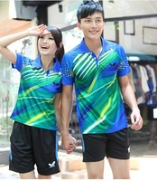 Couples men and women with quick-drying sportswear Badminton clothing Table tennis clothes Short sleeve suit jersey