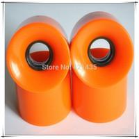 Free shipping 60 x 54 mm Colorful Pro High Rebound Speed Skate Wheels Skateboard PU Wheels Skate 1pair=4wheels Banana plate